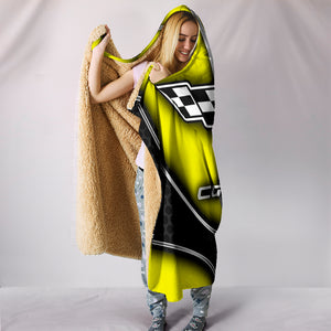 Corvette C7 Hooded Blanket Yellow With FREE SHIPPING TODAY!