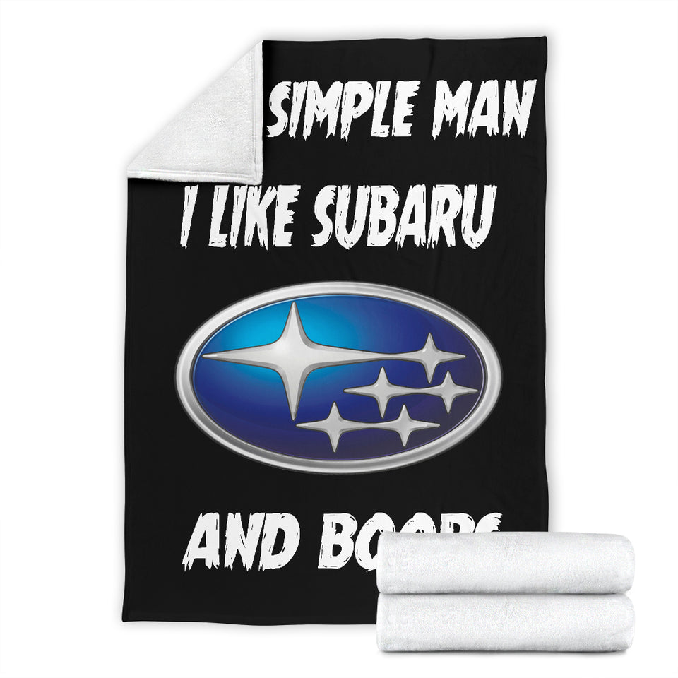 I'm A Simple Man I Like Subaru And Boobs Blanket With FREE SHIPPING!