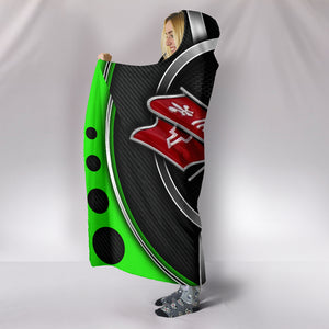 Corvette C3 Hooded Blanket Green With FREE SHIPPING TODAY!