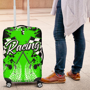 Racing Luggage Cover Green With FREE SHIPPING!