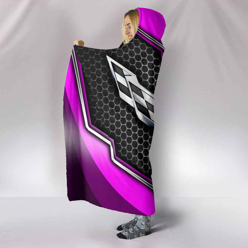 Corvette C7 Hooded Blanket Pink With FREE SHIPPING TODAY!