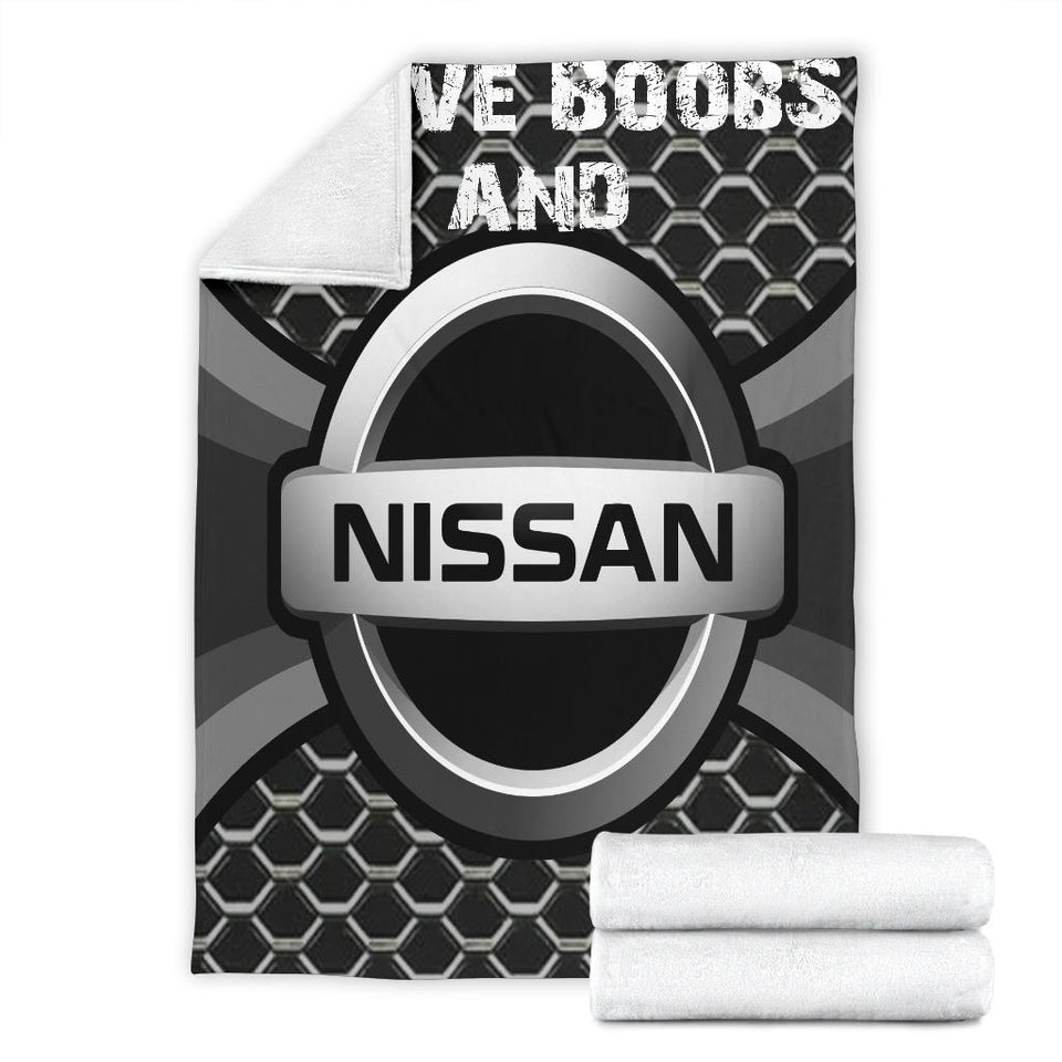 I Love Boobs And Nissan Blanket With FREE SHIPPING!