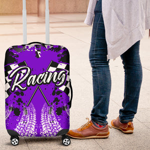 Racing Luggage Cover Purple With FREE SHIPPING!