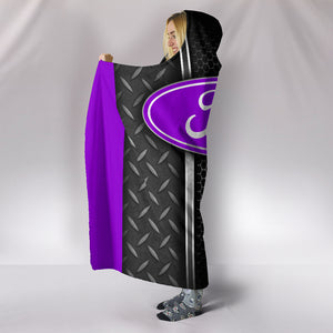Ford Hooded Blanket Purple With FREE SHIPPING TODAY!