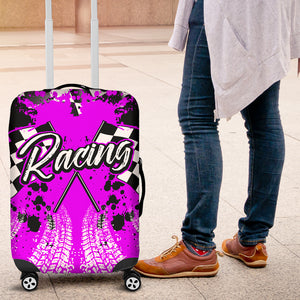 Racing Luggage Cover Pink With FREE SHIPPING!