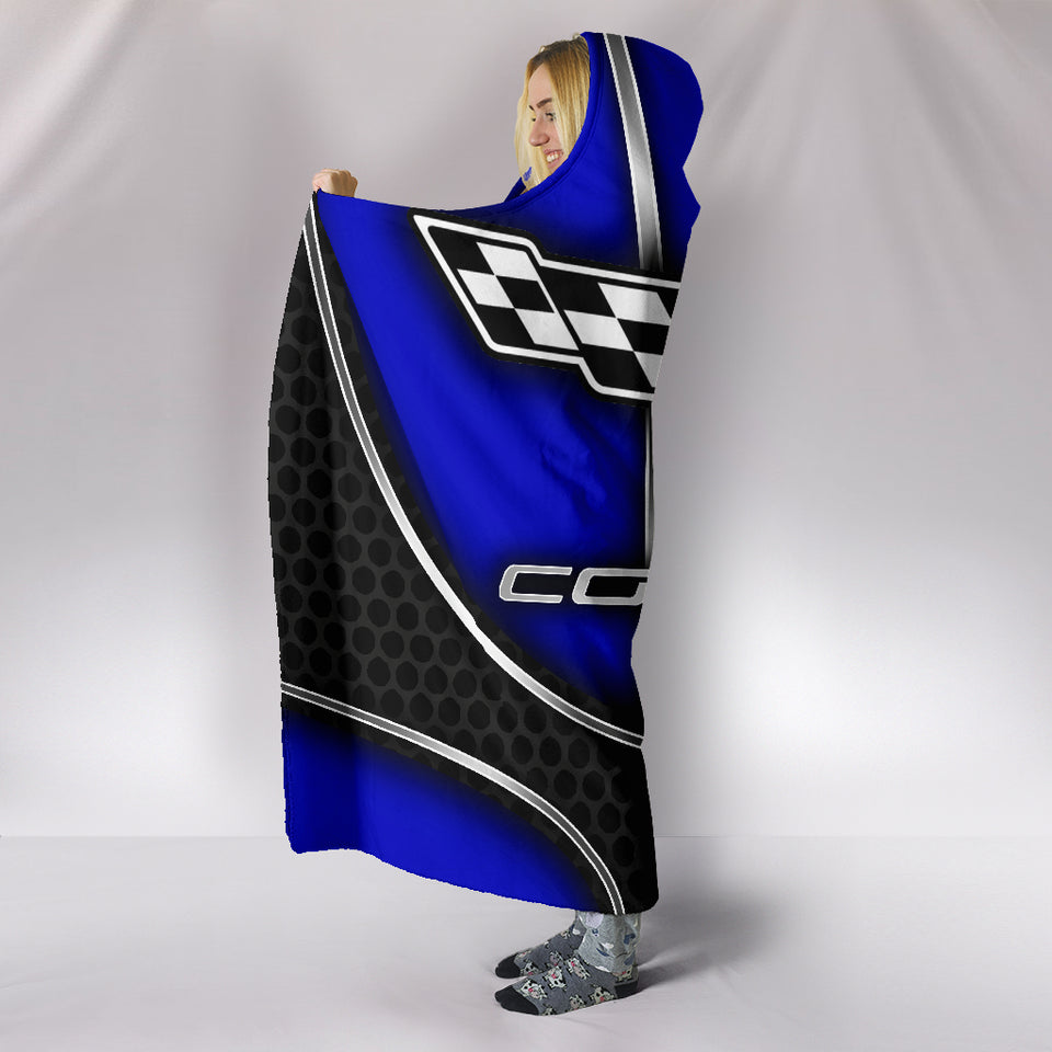 Corvette C6 Hooded Blanket Blue With FREE SHIPPING TODAY!
