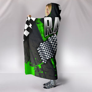Racing Hooded Blanket Green With FREE SHIPPING TODAY!