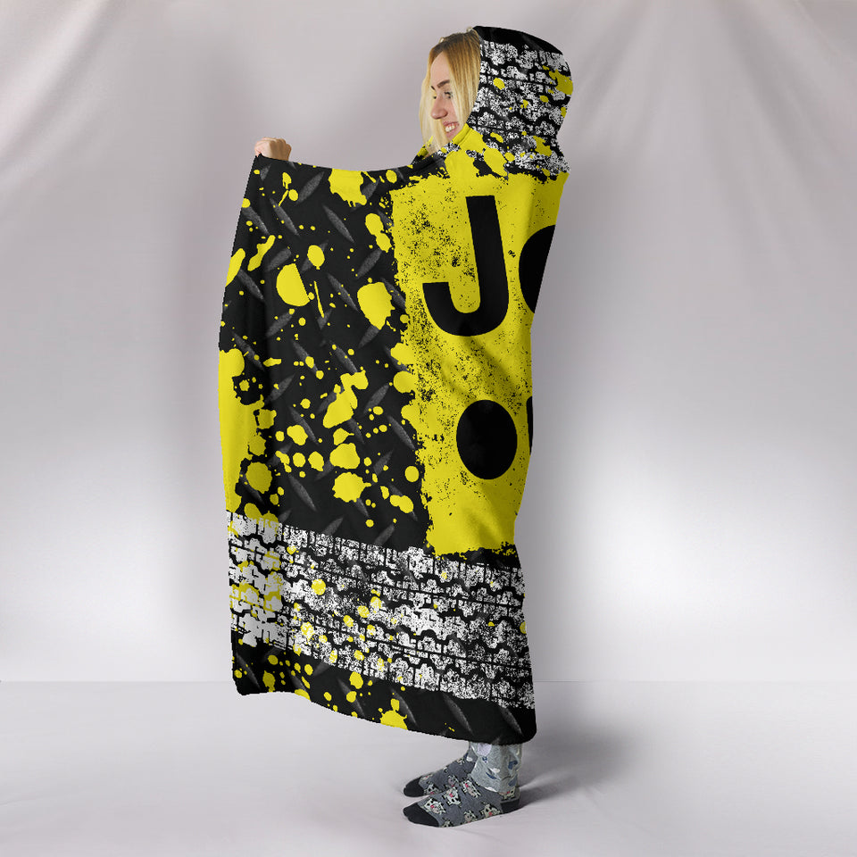 Jeep Hooded Blanket Yellow With FREE SHIPPING TODAY!