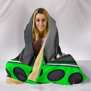 Corvette C4 Hooded Blanket Green With FREE SHIPPING TODAY!