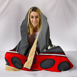 Corvette C4 Hooded Blanket Red With FREE SHIPPING TODAY!