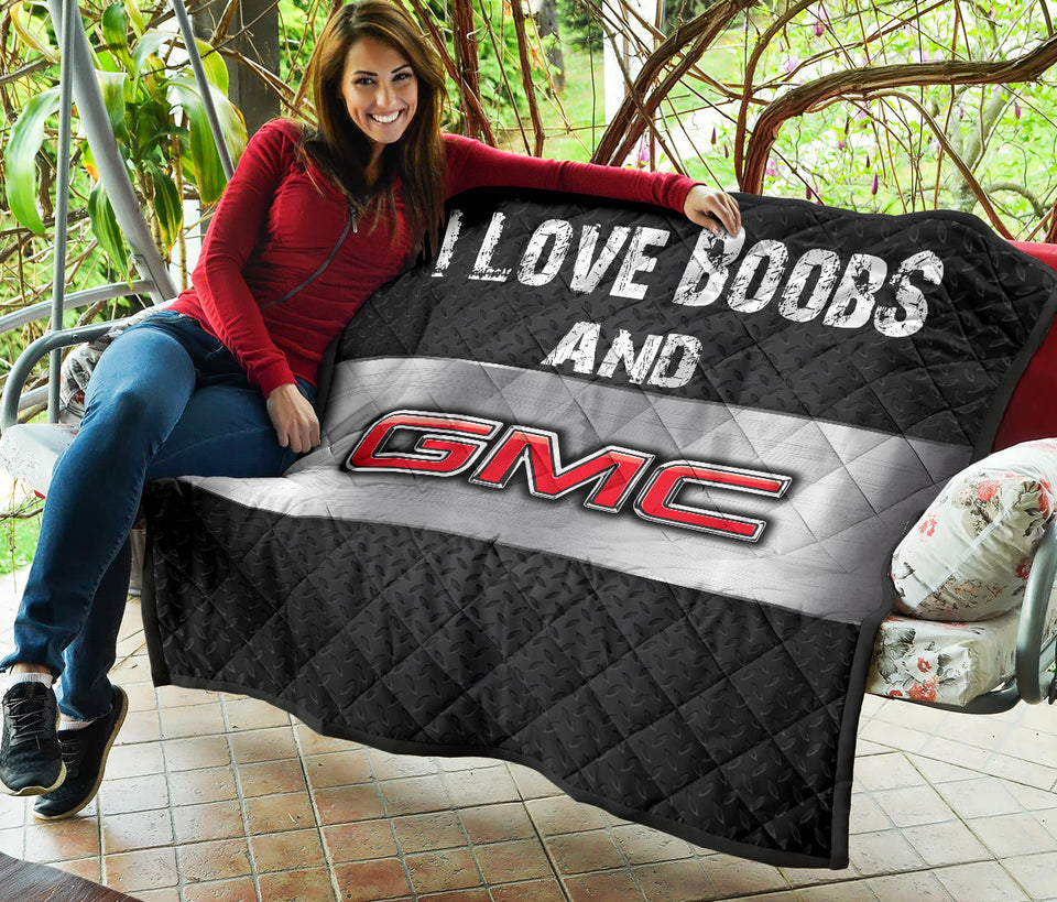 I Love Boobs And GMC Premium Quilt With FREE SHIPPING!