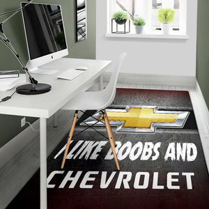 I Like Boobs And Chevrolet Rug V1 With FREE SHIPPING!