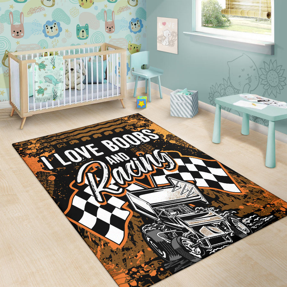 I Love Boobs And Sprint Car Racing Rugs With FREE SHIPPING!!