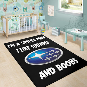 I'm A Simple Man I Like Subaru And Boobs Rug With FREE SHIPPING!