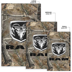 Ram Trucks Camo Rug With FREE SHIPPING!