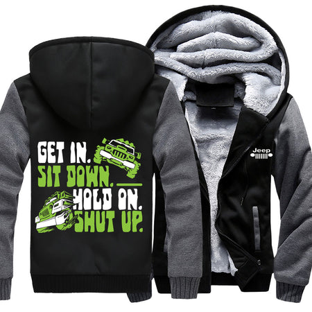 Get In Sit Down Hold On Jeep Jacket With FREE SHIPPING!