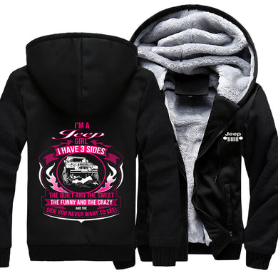 I'm A Jeep Girl I Have 3 Sides Jacket With FREE SHIPPING!