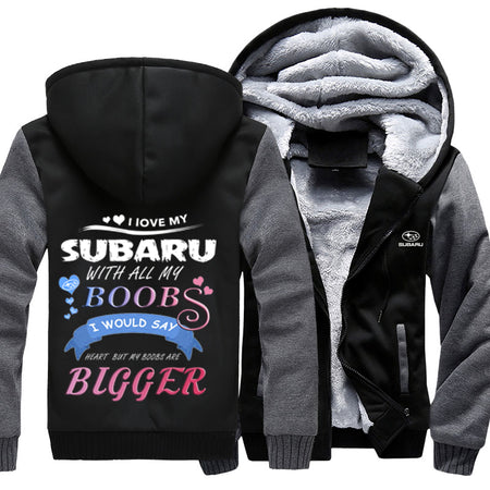 I Love Subaru With All My Boobs Jacket With FREE SHIPPING!