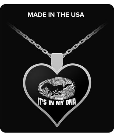 A Must Have - It's In My DNA Mustang Heart Necklace