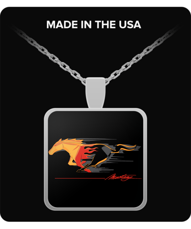 A Must Have Mustang Flaming Pony Muscle Necklace!