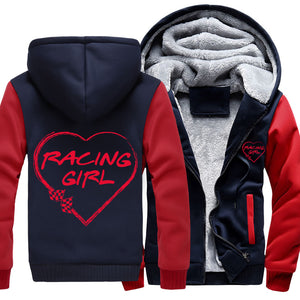 Superwarm Racing Girl Heart Jackets RV With FREE SHIPPING!