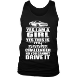 Yes I'm a Girl, Yes it's my Dodge Challenger