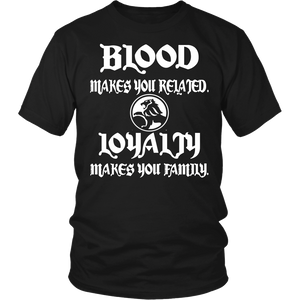 Blood Makes Related Loyalty Makes You Family Holden!