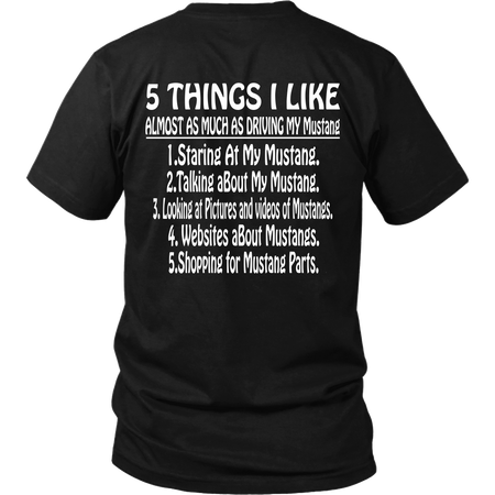Five Things I Like Mustang Design On The Back!