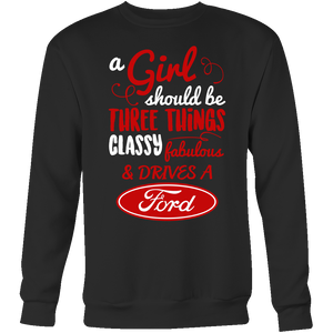 A Girl Should Be Three Things Classy,Fabulous & Drives a Ford RV