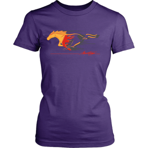 Ford Mustang T-shirt Flaming Pony Muscle