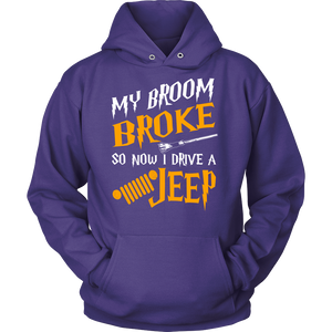 My Broom Broke So Now I Drive A Jeep New!