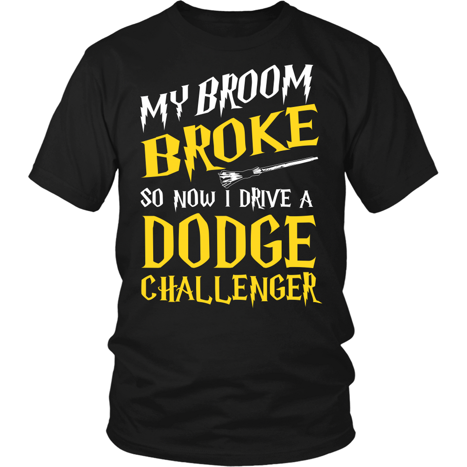 My Broom Broke So Now I Drive A Dodge Challenger!