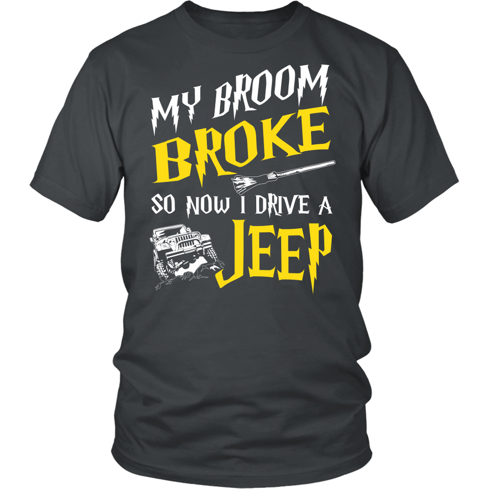 My Broom Broke So Now I Drive A Jeep!
