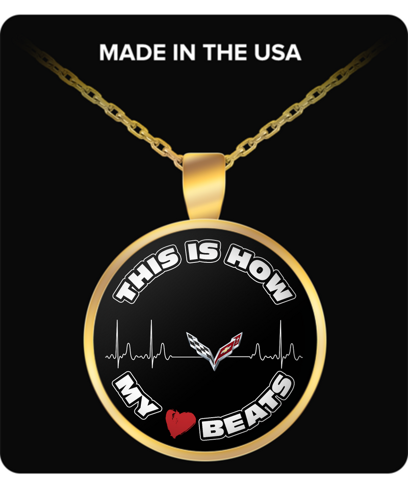 This Is How My Heart Beats Corvette Necklace