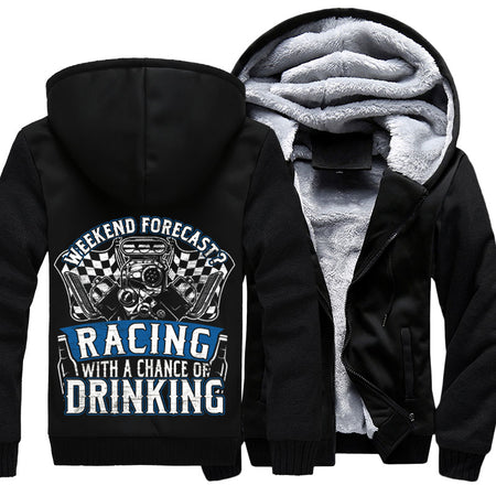 Superwarm Weekend Forecast Racing With A Chance Of Drinking Jackets With FREE SHIPPING