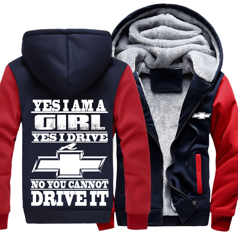 Superwarm Yes I'm Girl Yes I Drive A Chevy Jackets With FREE SHIPPING!