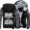 Superwarm Yes I'm  Girl Yes I Drive A Race Car Jackets With FREE SHIPPING!