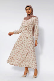 Petal Perfect Cream Maxi Dress