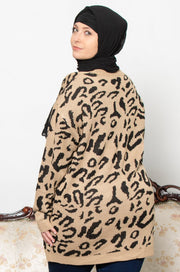 Leopard Print Modest Sweater