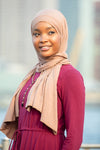 Taupe Jersey Hijab - Abaya, Hijabs, Jilbabs, on sale now at UrbanModesty.com