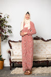Blush Me Floral Ruffle Sheer Maxi Cardigan-Clearance - Abaya, Hijabs, Jilbabs, on sale now at UrbanModesty.com