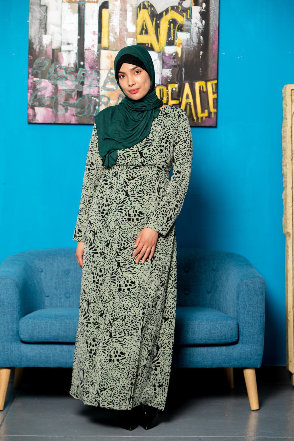 Lilac Lace Open Front Abaya - Abaya, Hijabs, Jilbabs, on sale now at UrbanModesty.com