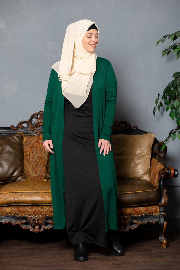 Ribbed Maxi Cardigan (More Colors Avaliable)