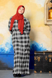 Tribal Two-Tone Maxi Dress-CLEARANCE - Abaya, Hijabs, Jilbabs, on sale now at UrbanModesty.com
