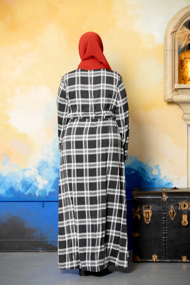 Gray Ruffle Open Front Abaya-Clearance - Abaya, Hijabs, Jilbabs, on sale now at UrbanModesty.com