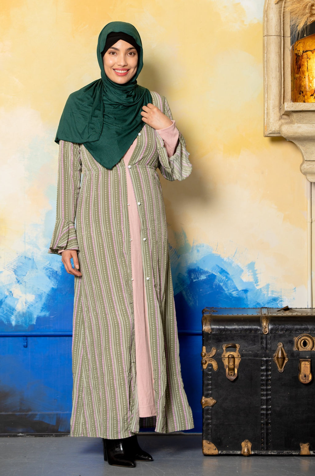 Dusty Pink Pleated Shimmer Hijab-Hijabs-Urban Modesty Inc.