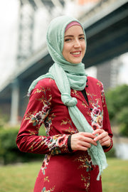 Mint Cotton Hijab Head Scarf - Abaya, Hijabs, Jilbabs, on sale now at UrbanModesty.com