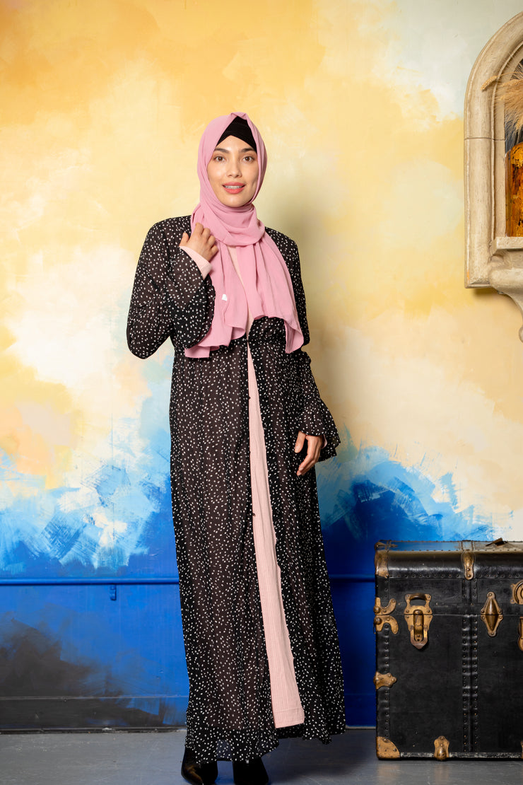 Green Floral Sheer Maxi Cardigan - CLEARANCE - Abaya, Hijabs, Jilbabs, on sale now at UrbanModesty.com