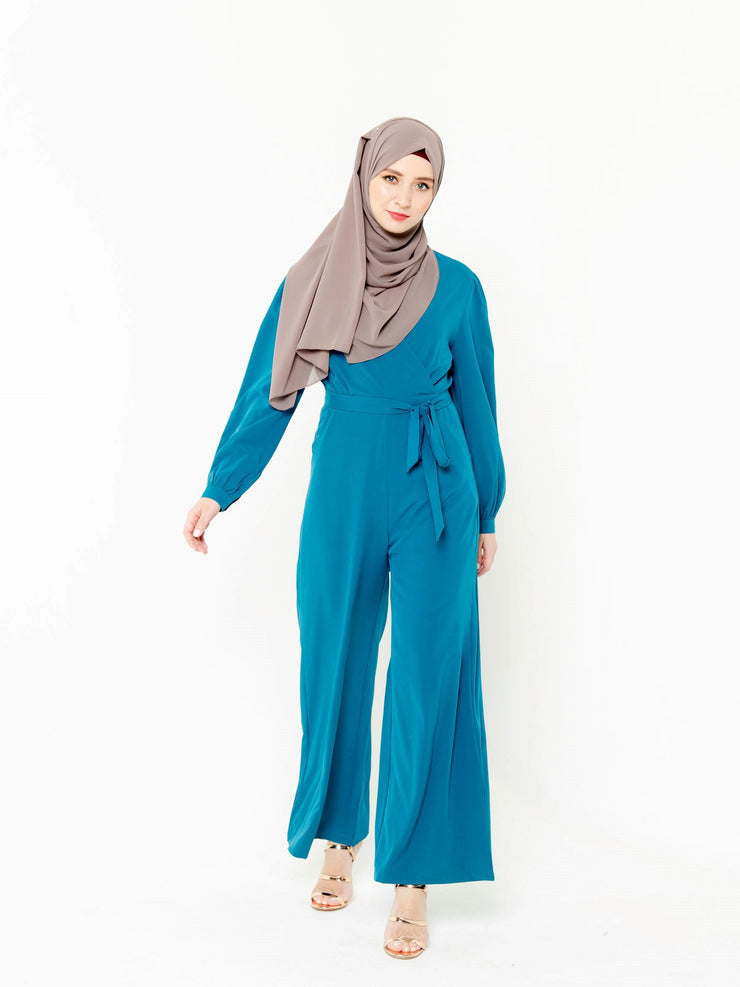 Teal Long Sleeve Jumpsuit