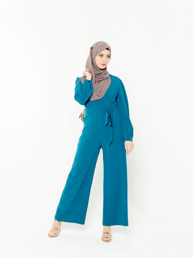 Criss Cross Long Sleeve Jumpsuit